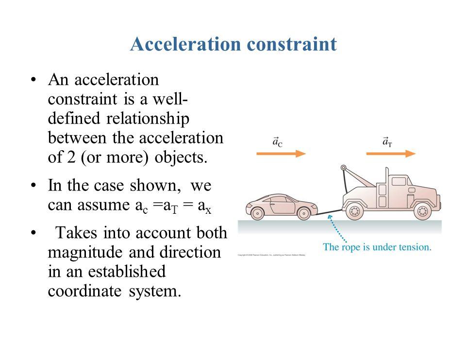 Acceleration constraint