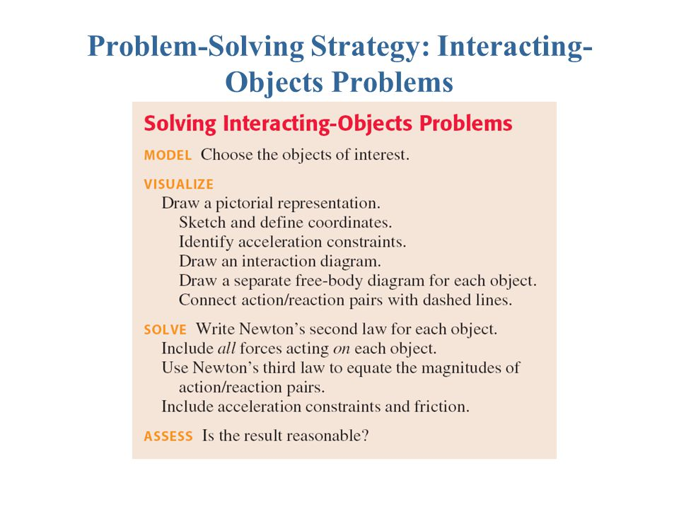 Problem-Solving Strategy: Interacting-Objects Problems