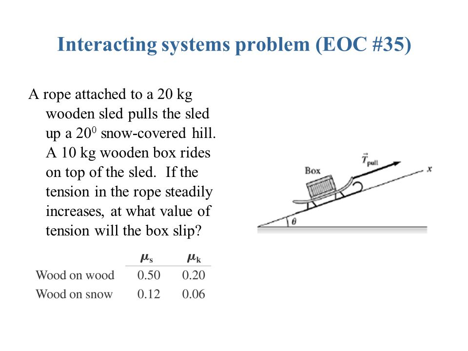 Interacting systems problem (EOC #35)