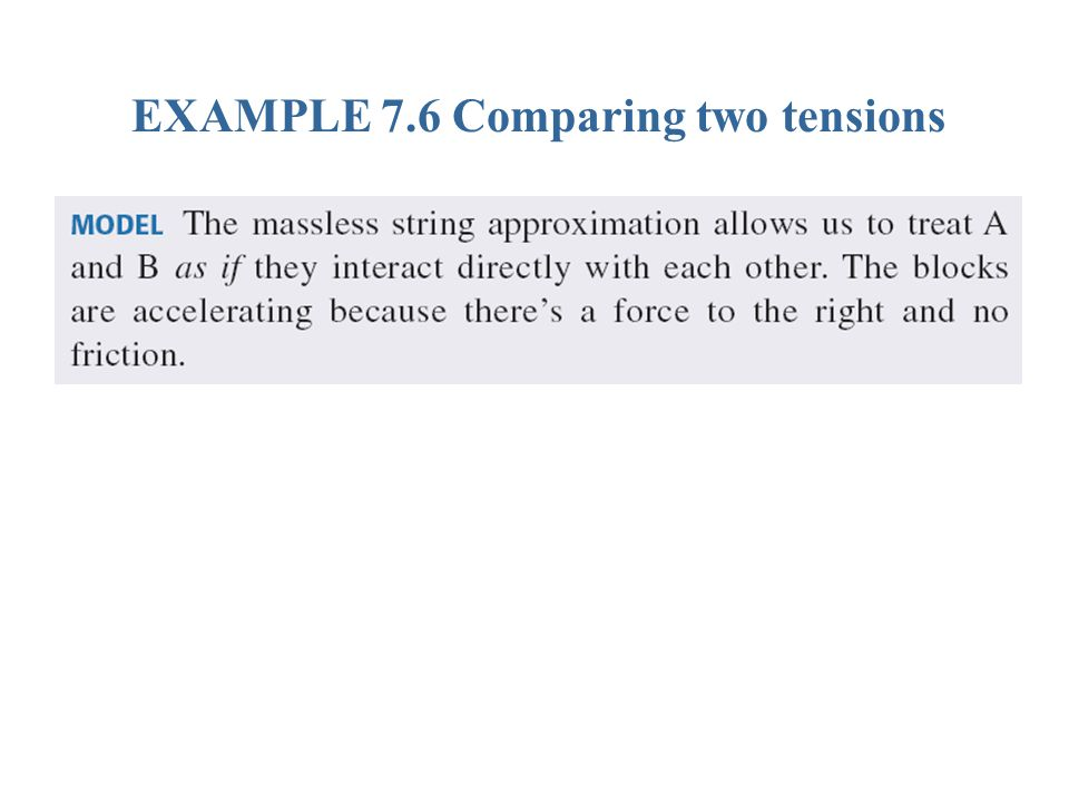 EXAMPLE 7.6 Comparing two tensions