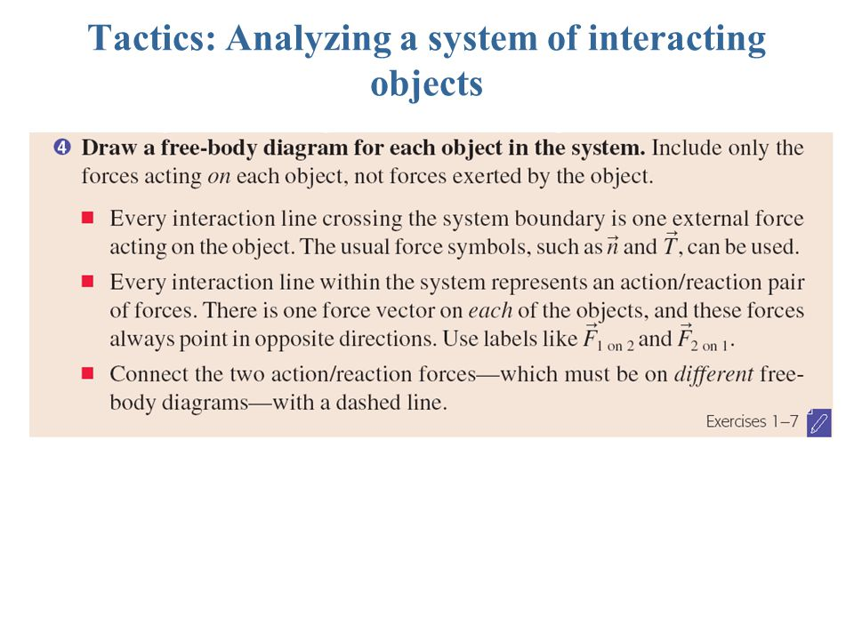 Tactics: Analyzing a system of interacting objects