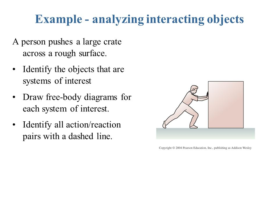 Example - analyzing interacting objects