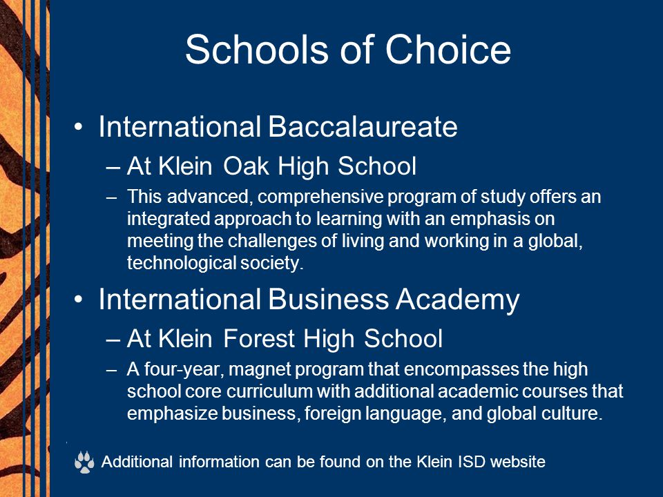 Schools of Choice International Baccalaureate