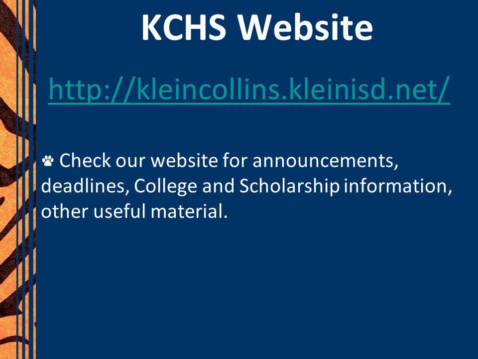 KCHS Website http://kleincollins.kleinisd.net/