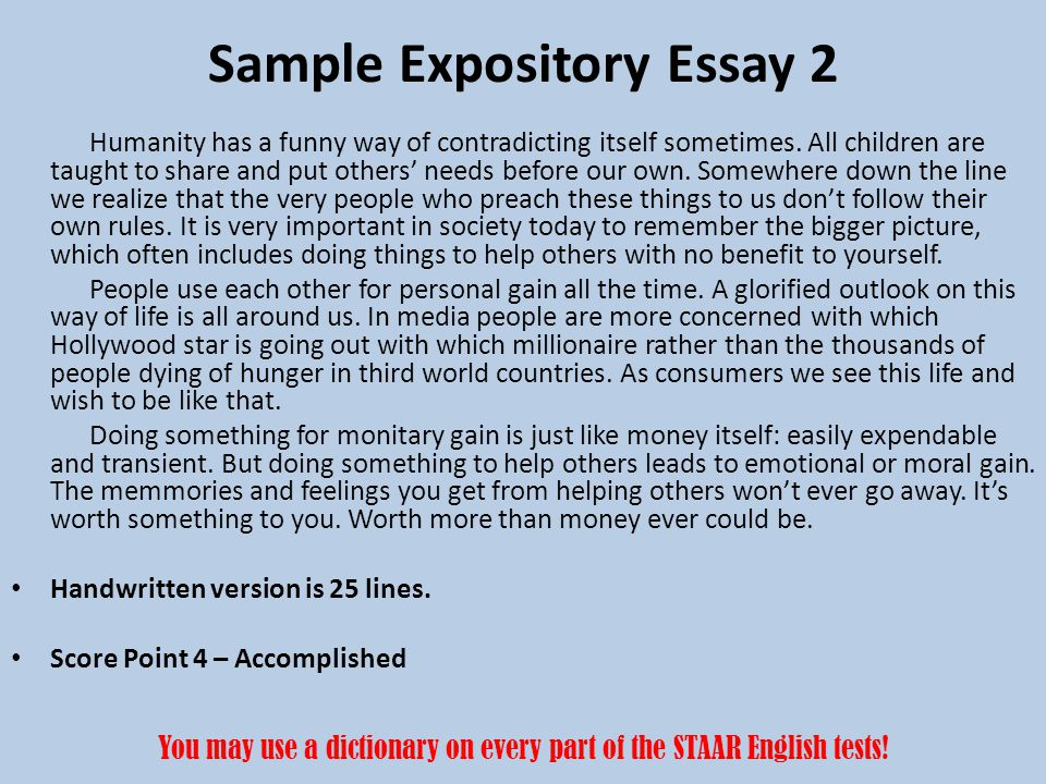 expositive essay A thorough and advisable assistance on writing an expository essay.