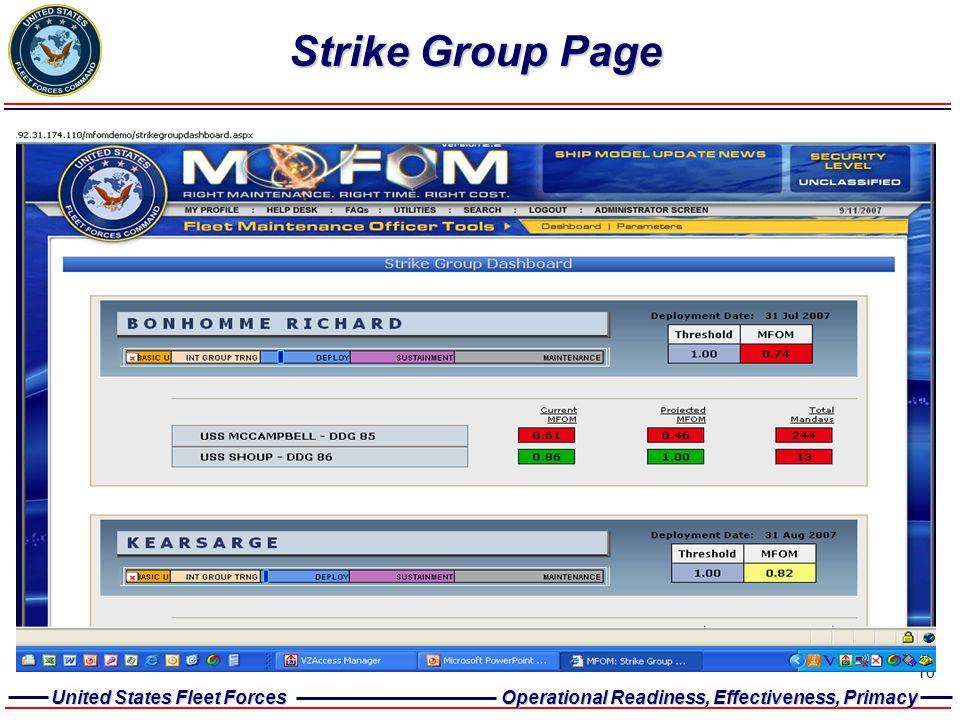 Strike Group Page