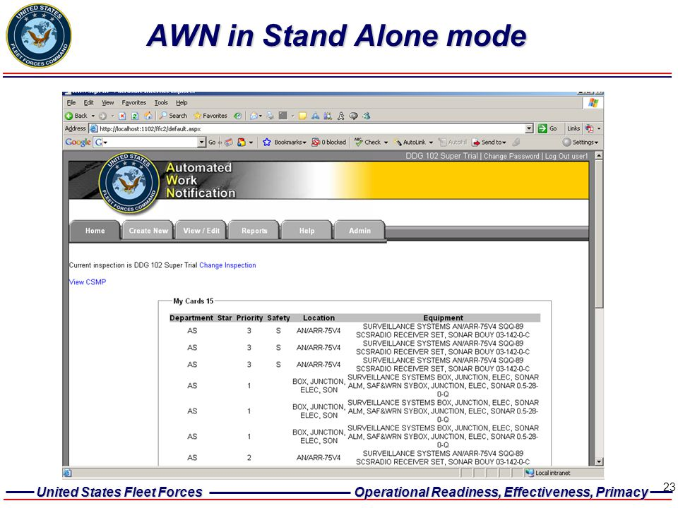 AWN in Stand Alone mode