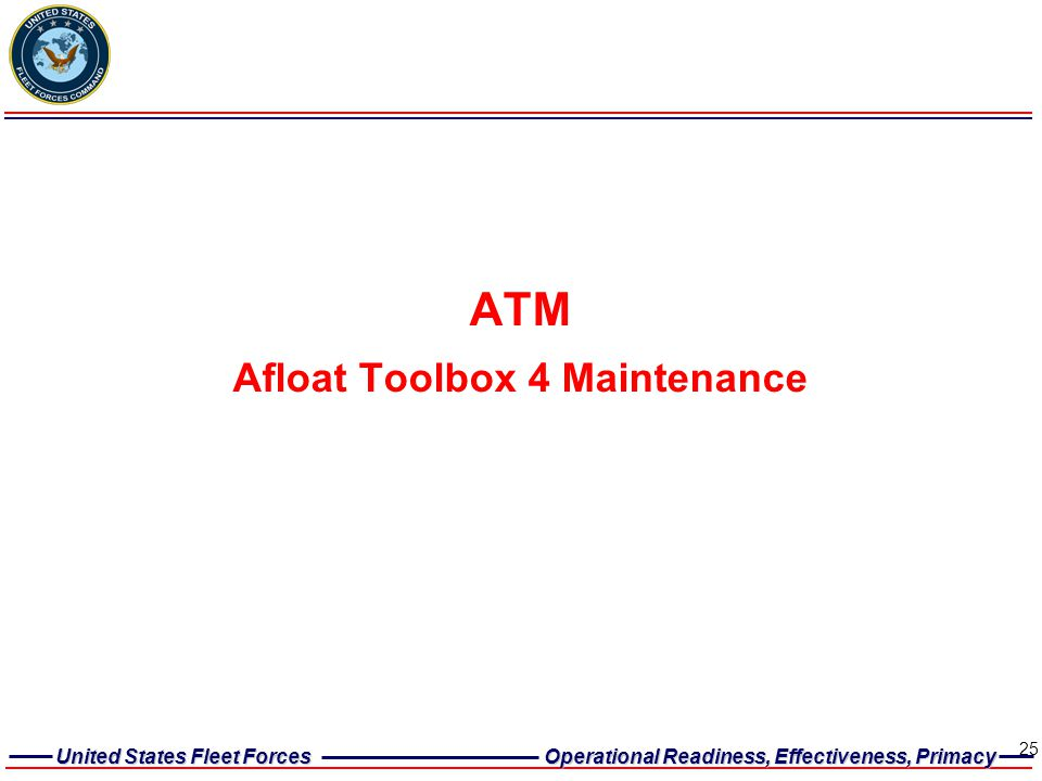 Afloat Toolbox 4 Maintenance