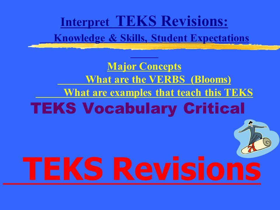 TEKS Vocabulary Critical
