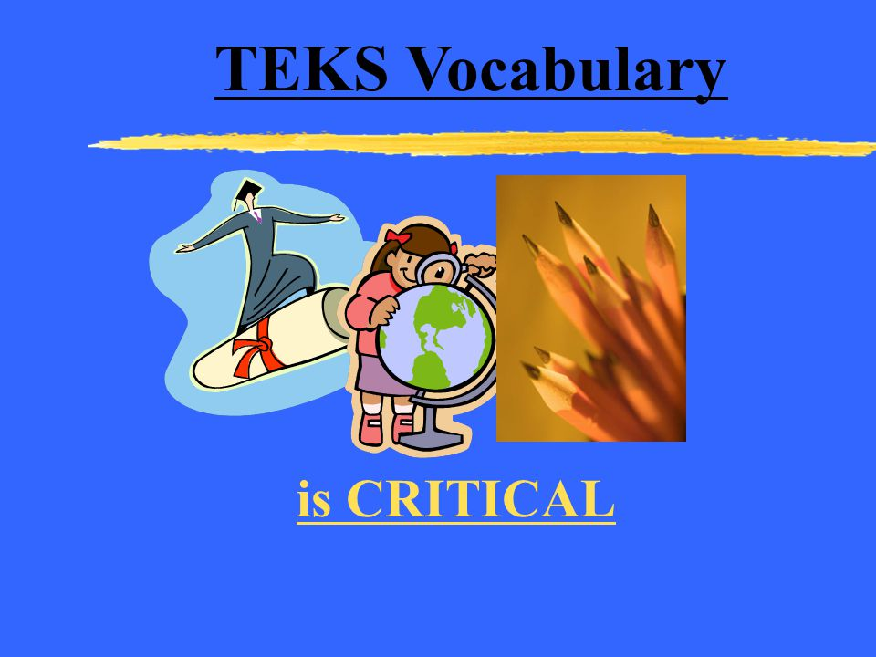 TEKS Vocabulary is CRITICAL