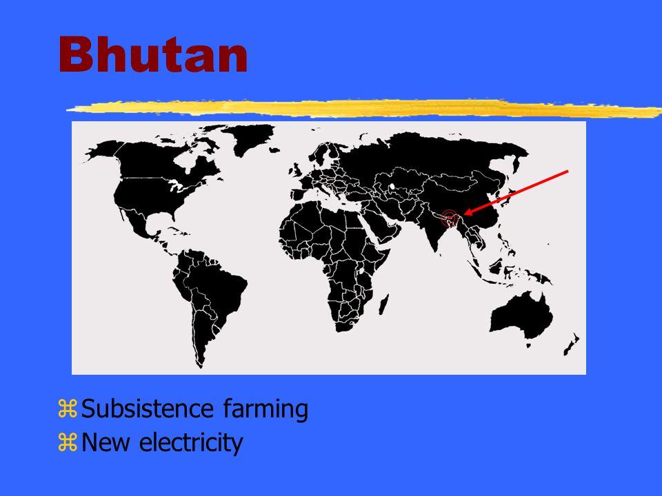 Bhutan Subsistence farming New electricity