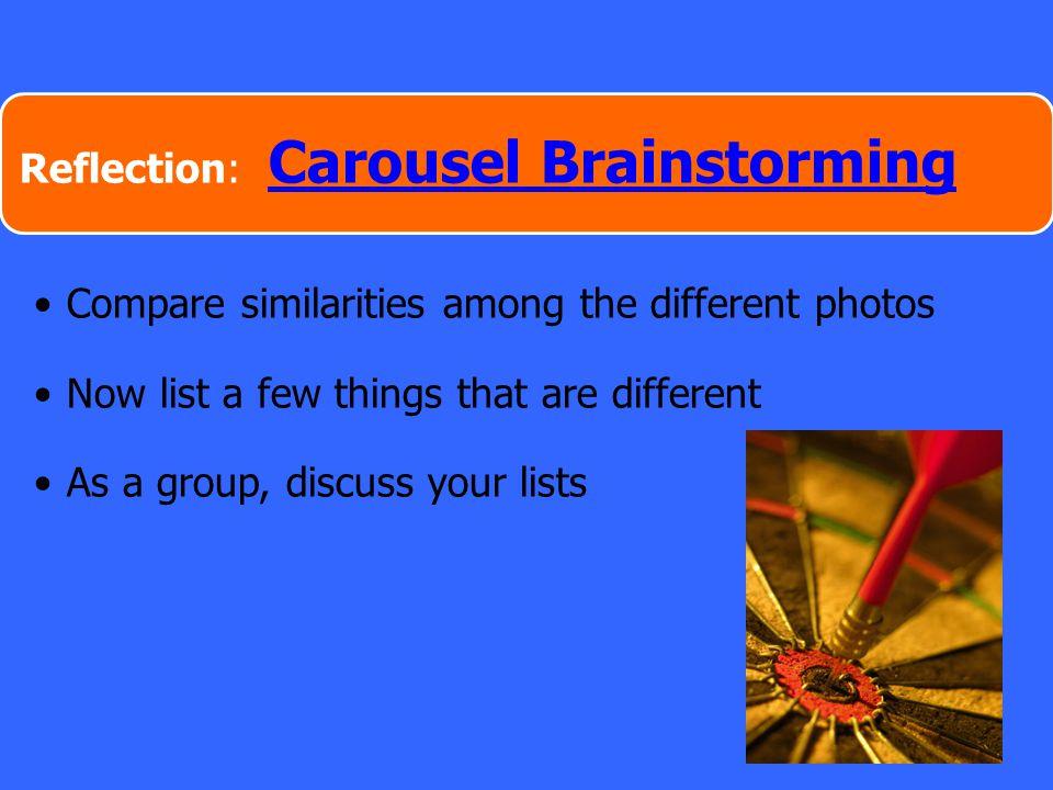 Reflection: Carousel Brainstorming