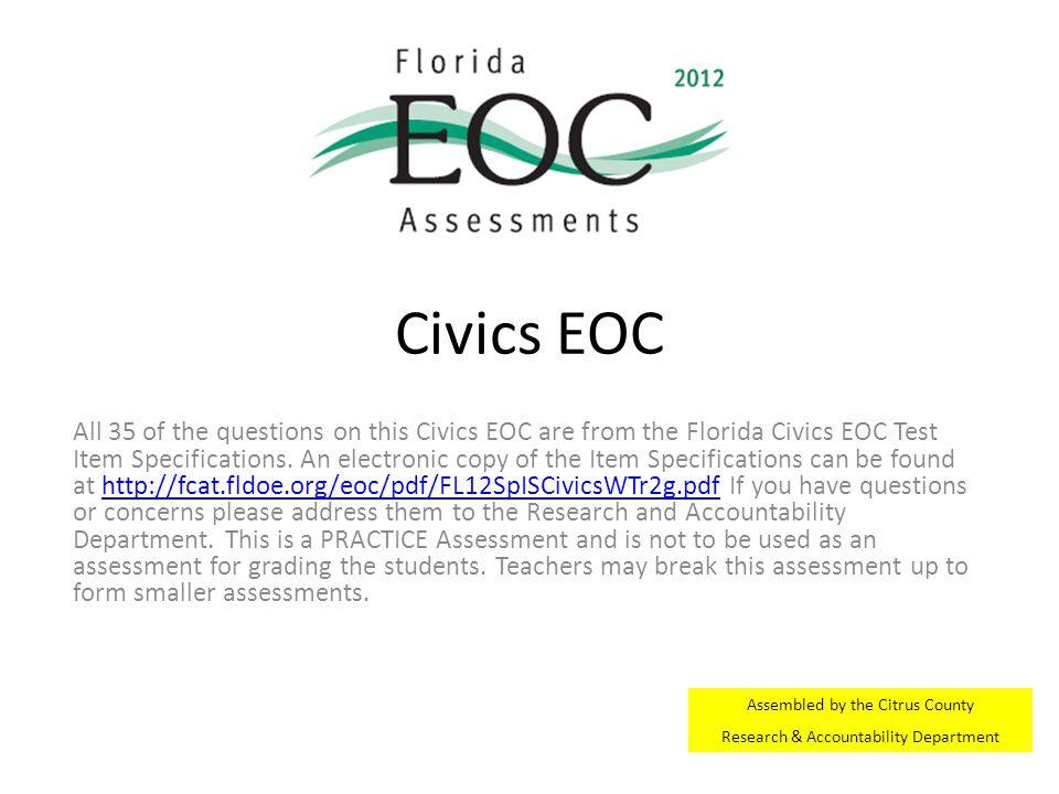 Civics EOC
