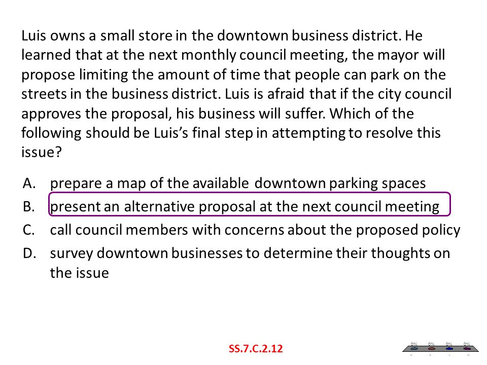 prepare a map of the available downtown parking spaces