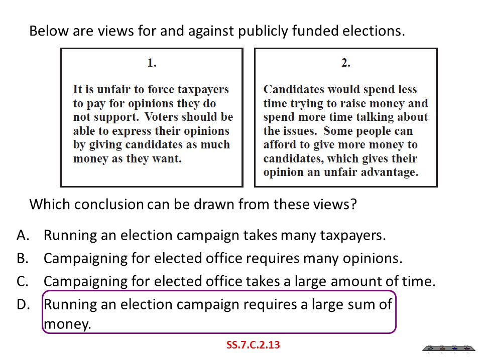 Running an election campaign takes many taxpayers.