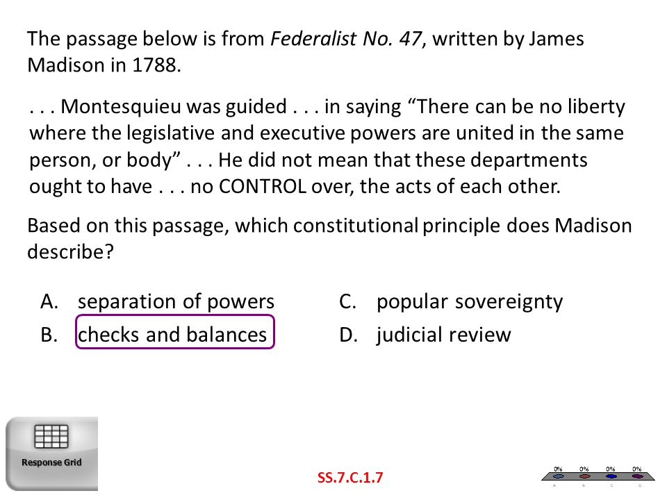 separation of powers popular sovereignty checks and balances