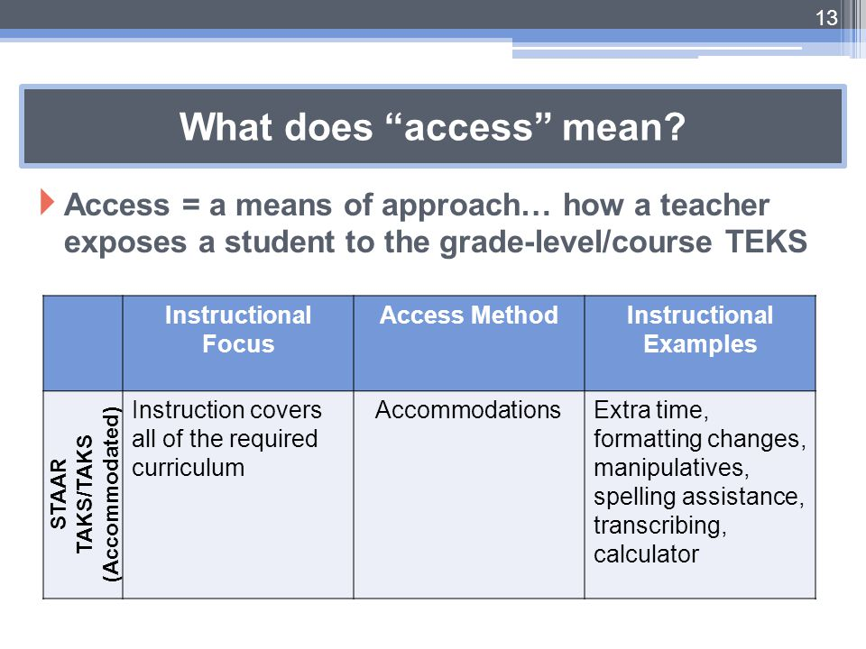 What does access mean