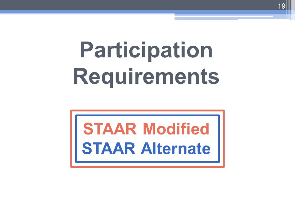 Participation Requirements