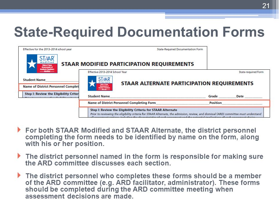 State-Required Documentation Forms