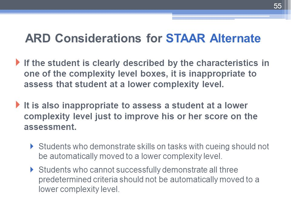ARD Considerations for STAAR Alternate