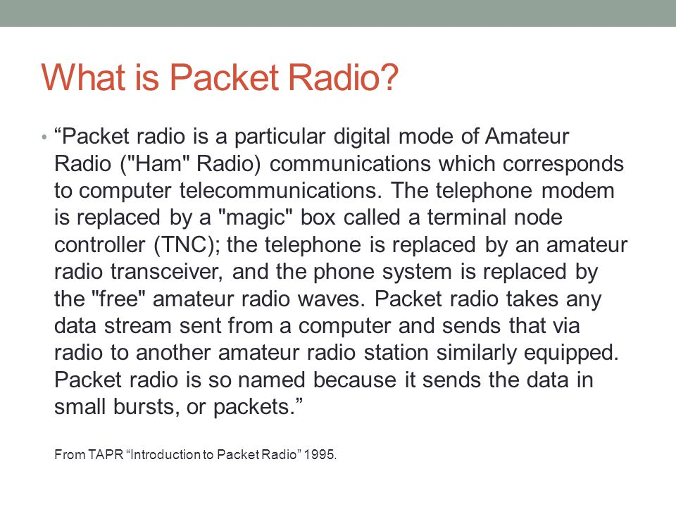 What is Packet Radio
