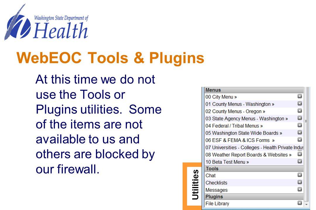 WebEOC Tools & Plugins