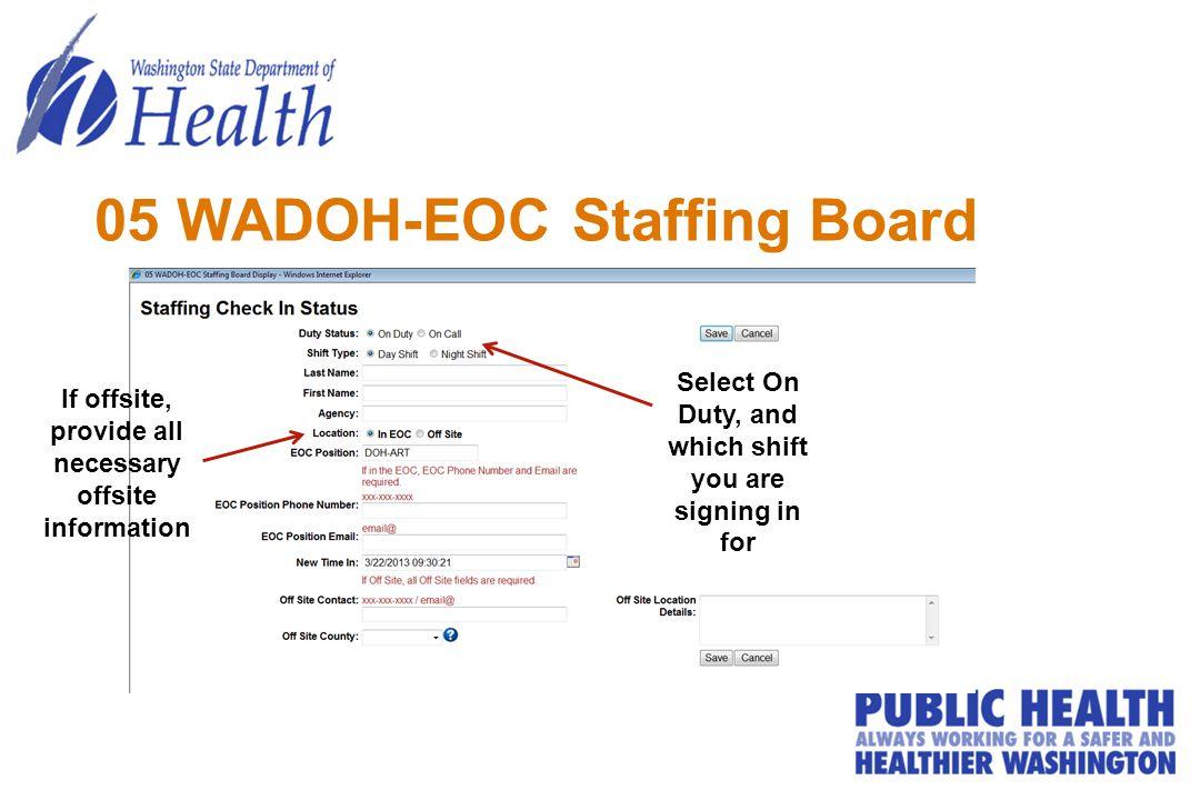 05 WADOH-EOC Staffing Board