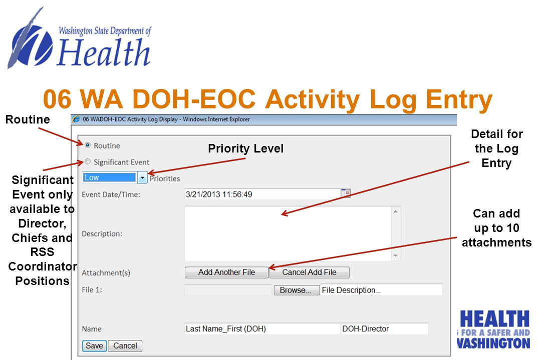 06 WA DOH-EOC Activity Log Entry