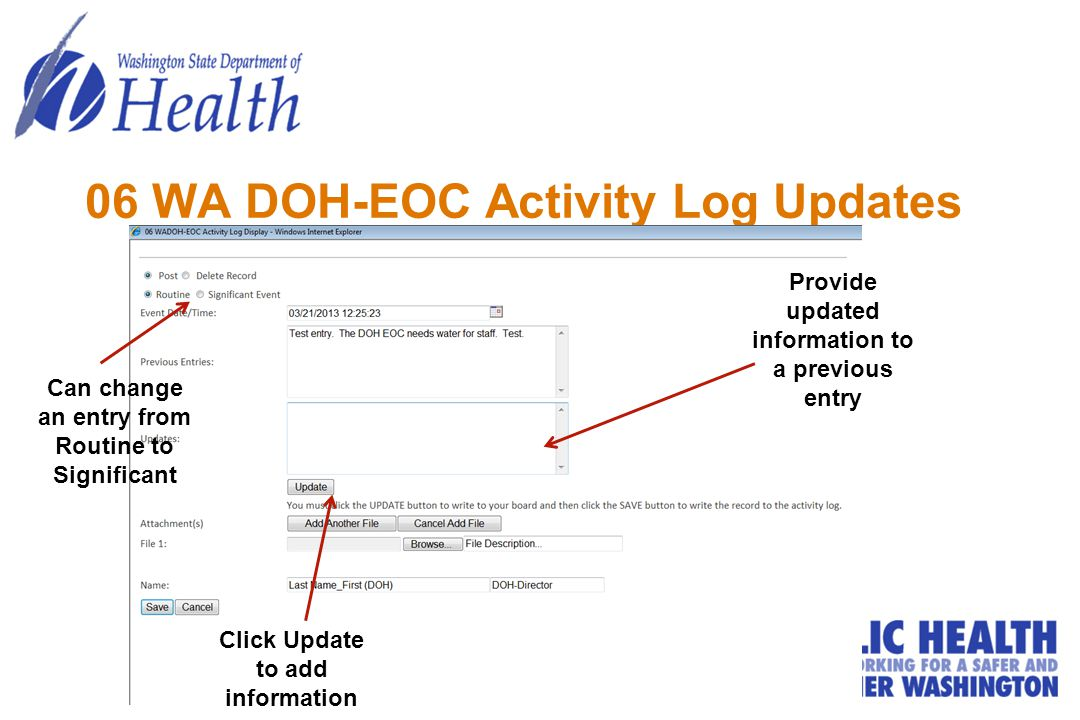 06 WA DOH-EOC Activity Log Updates