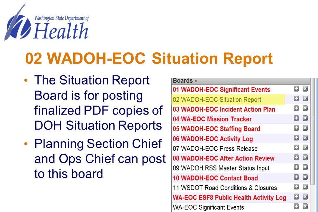 02 WADOH-EOC Situation Report