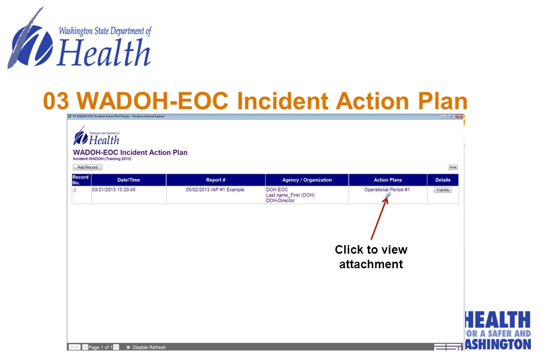 03 WADOH-EOC Incident Action Plan