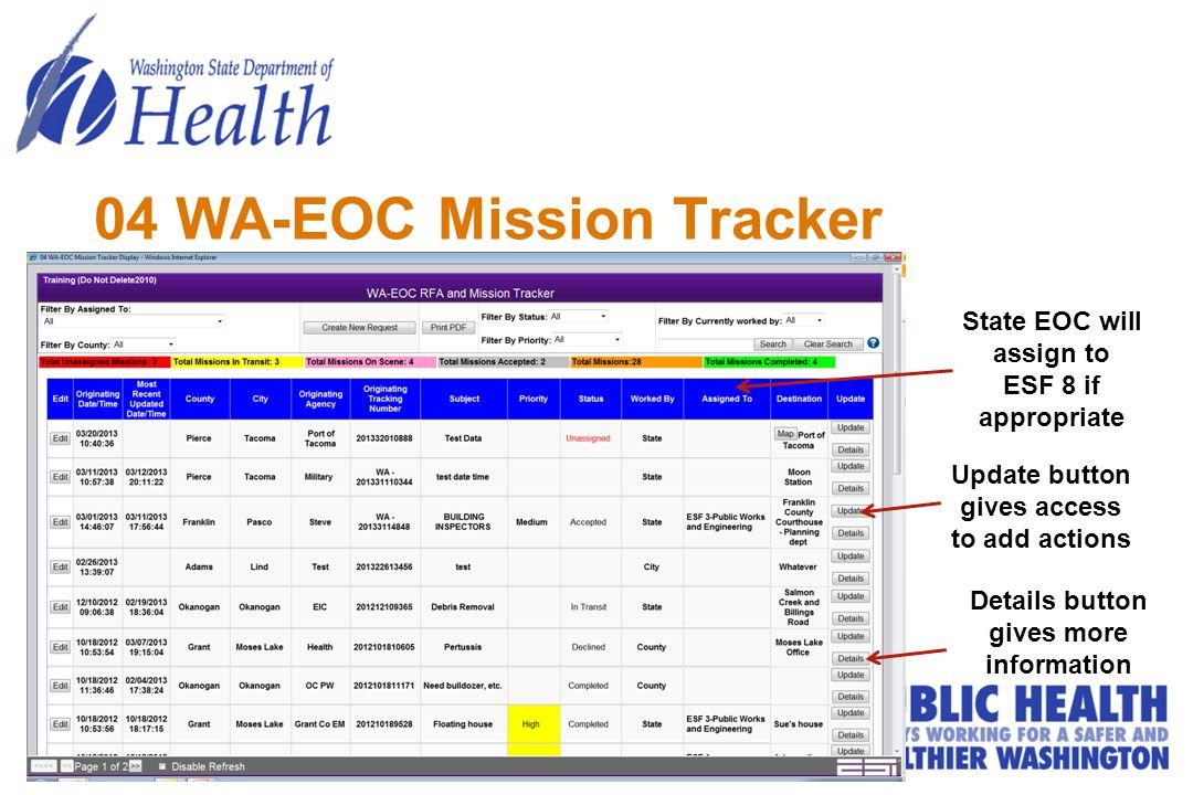 04 WA-EOC Mission Tracker