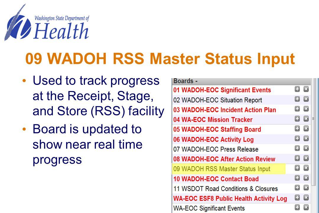 09 WADOH RSS Master Status Input
