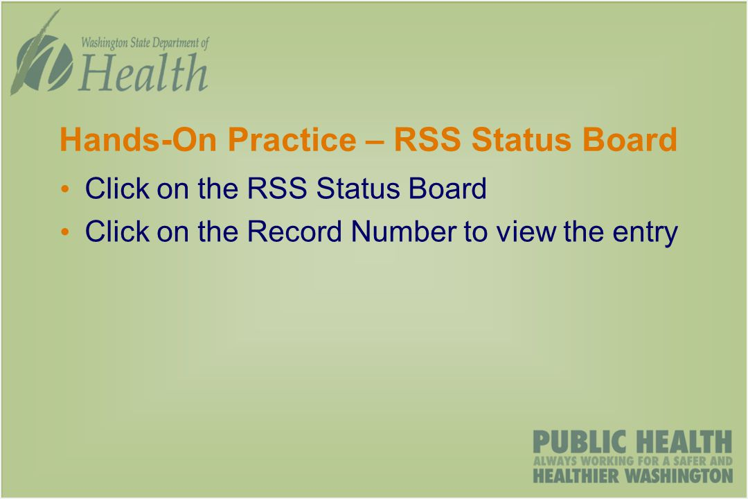 Hands-On Practice – RSS Status Board