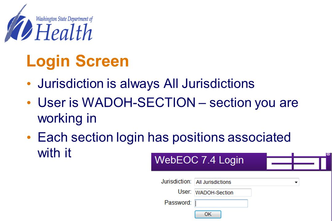 Login Screen Jurisdiction is always All Jurisdictions