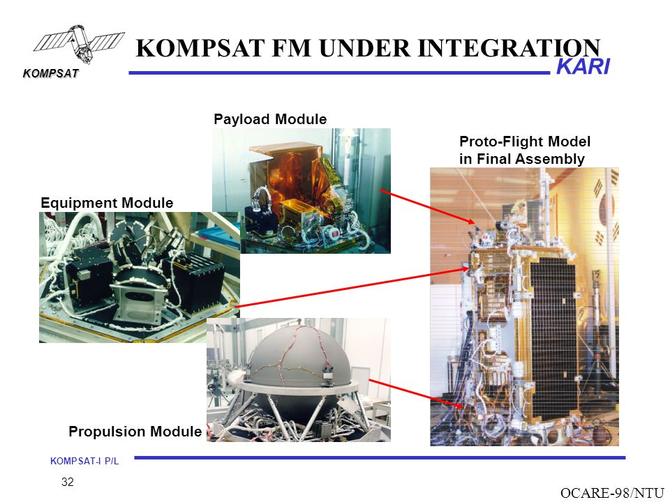 KOMPSAT FM UNDER INTEGRATION