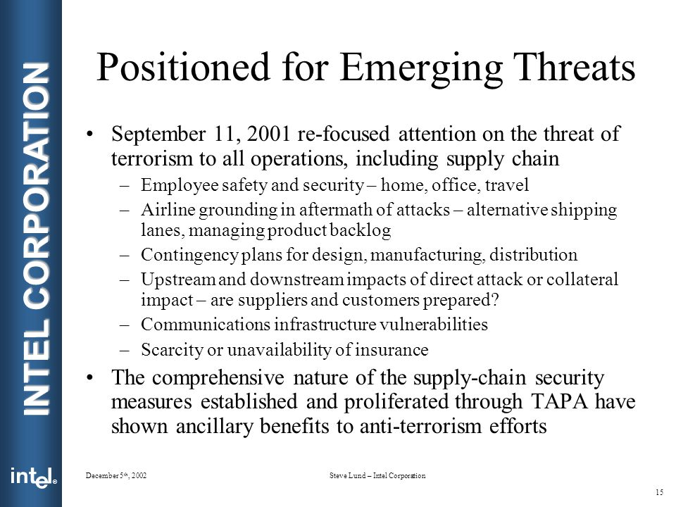 Positioned for Emerging Threats
