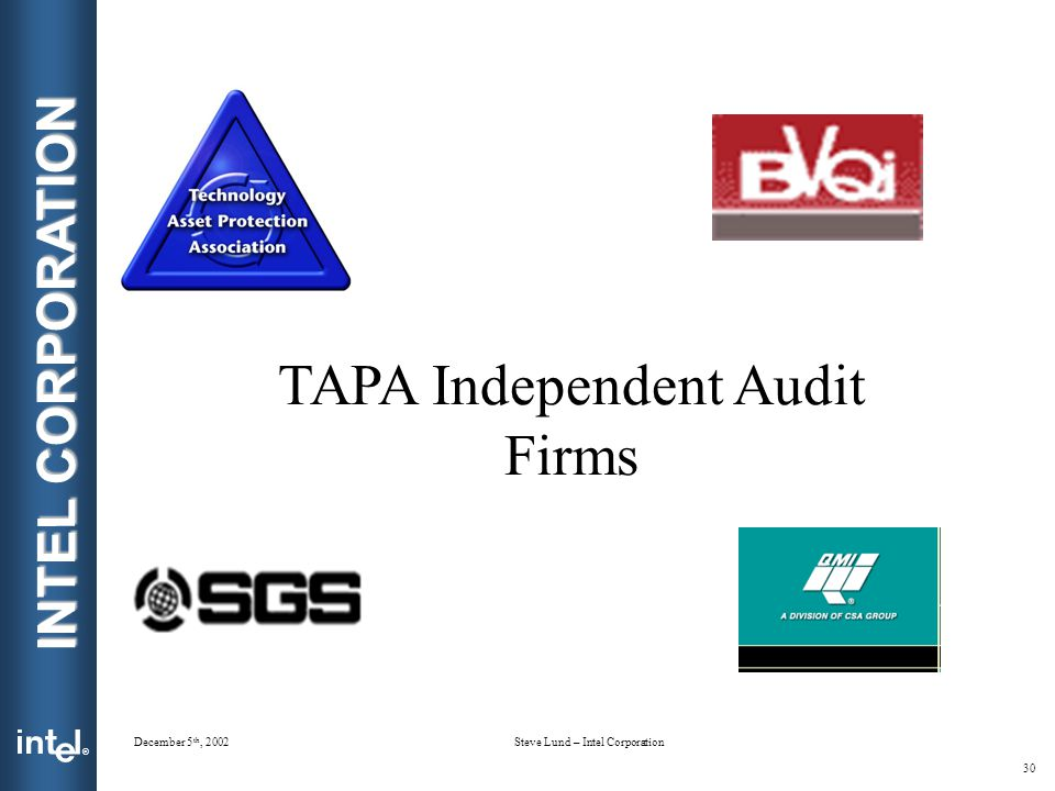 TAPA Independent Audit Firms