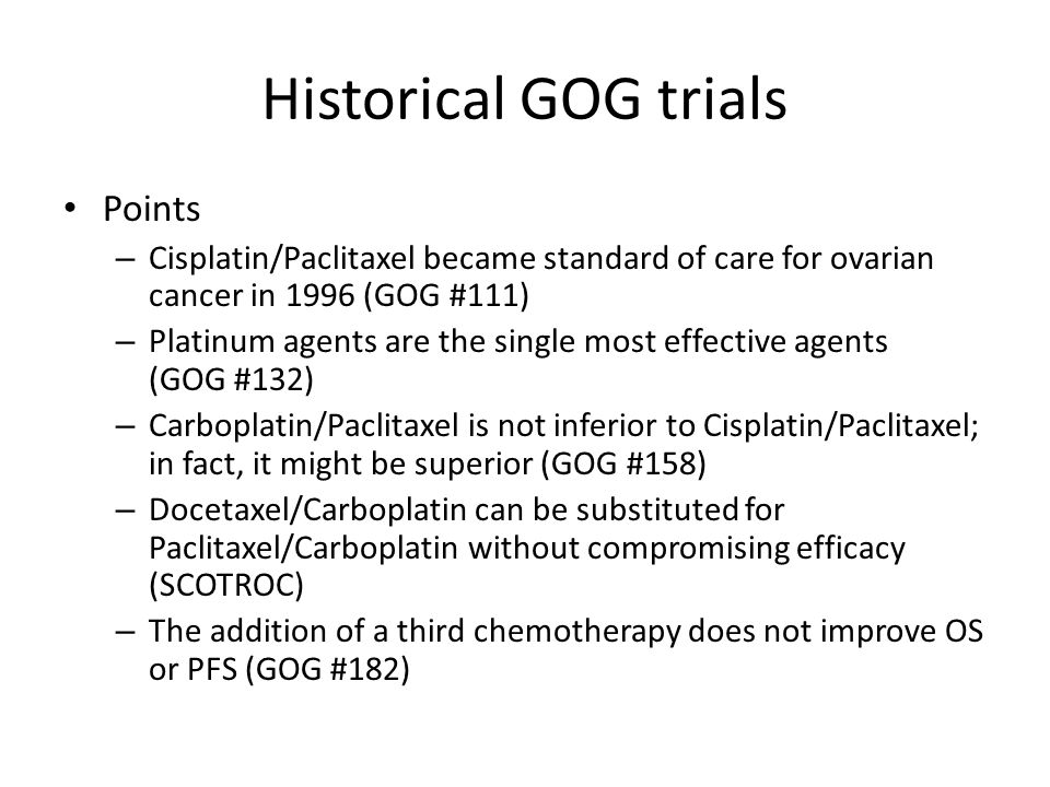 Historical GOG trials Points