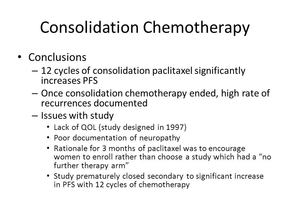 Consolidation Chemotherapy