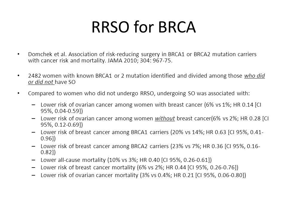 RRSO for BRCA