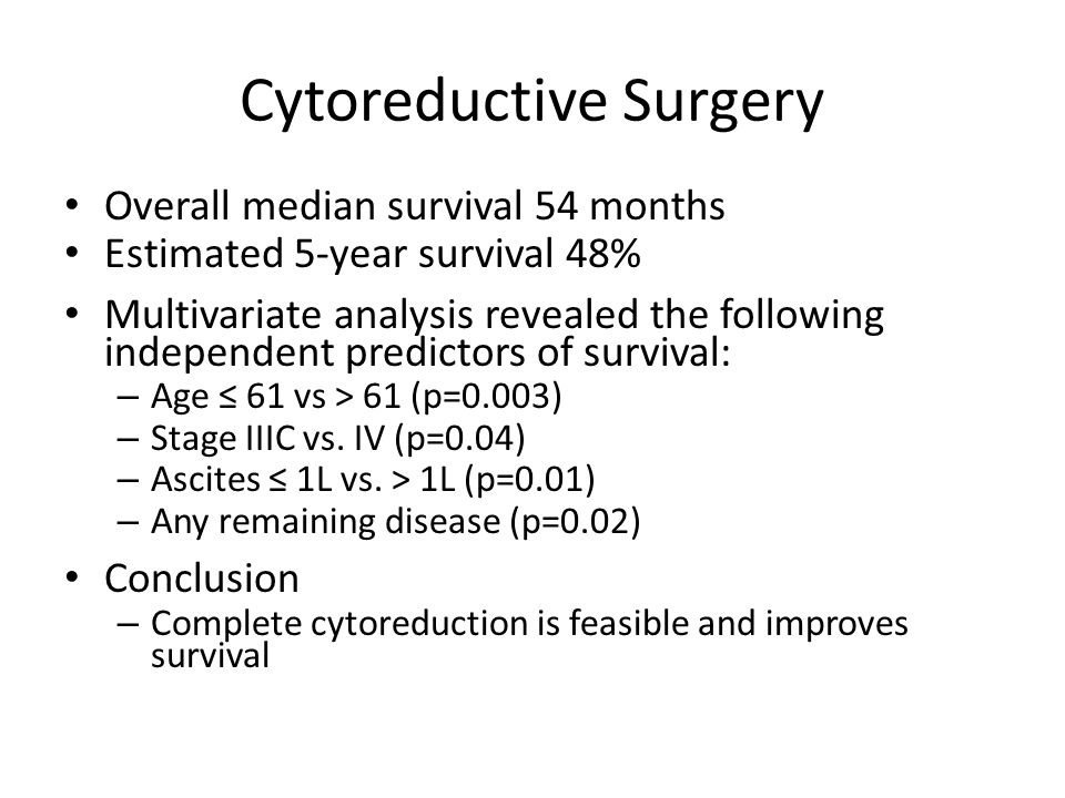 Cytoreductive Surgery