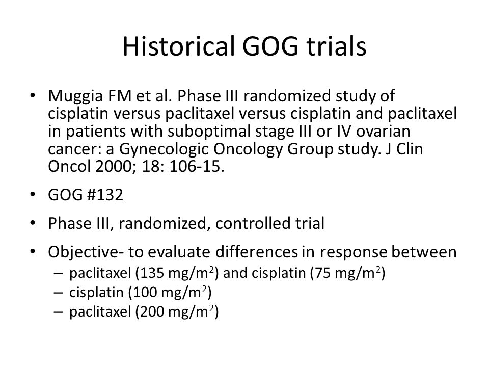 Historical GOG trials