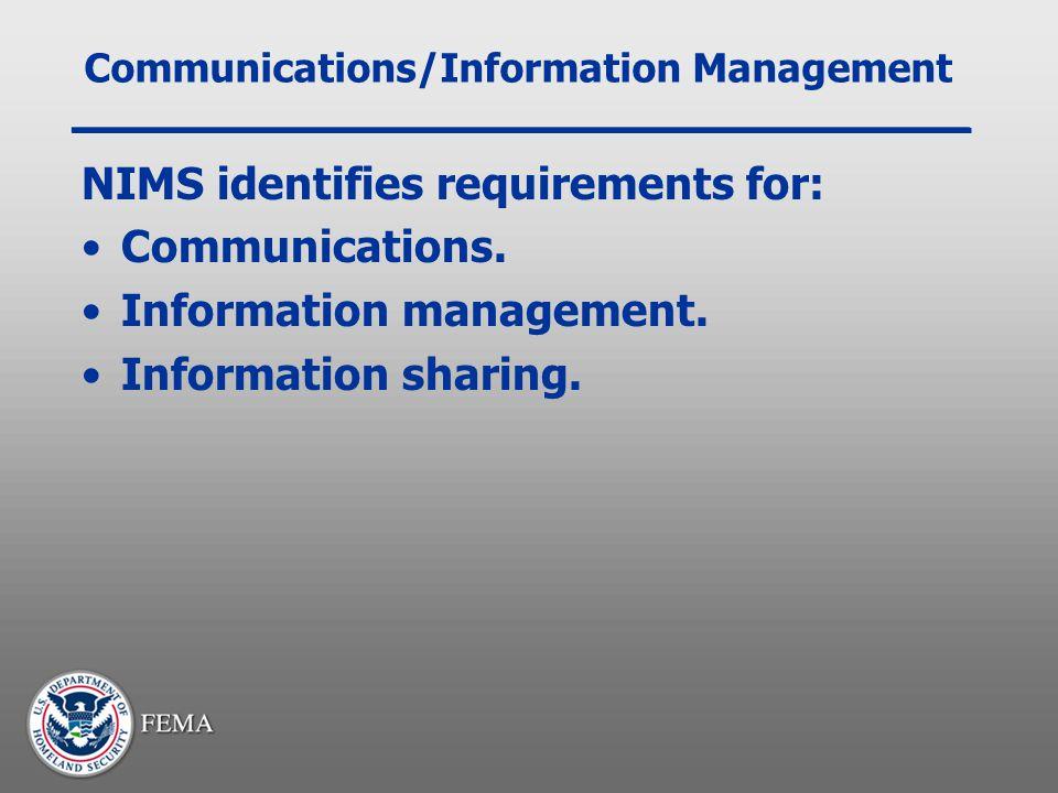 Communications/Information Management