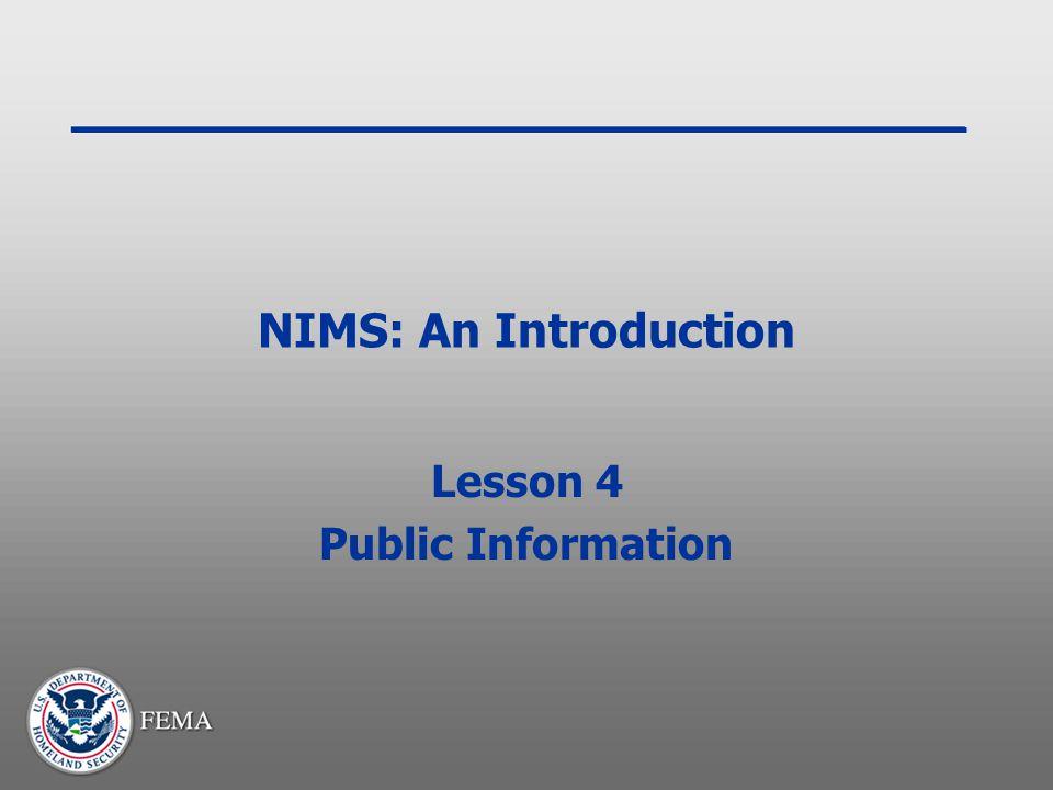 Lesson 4 Public Information