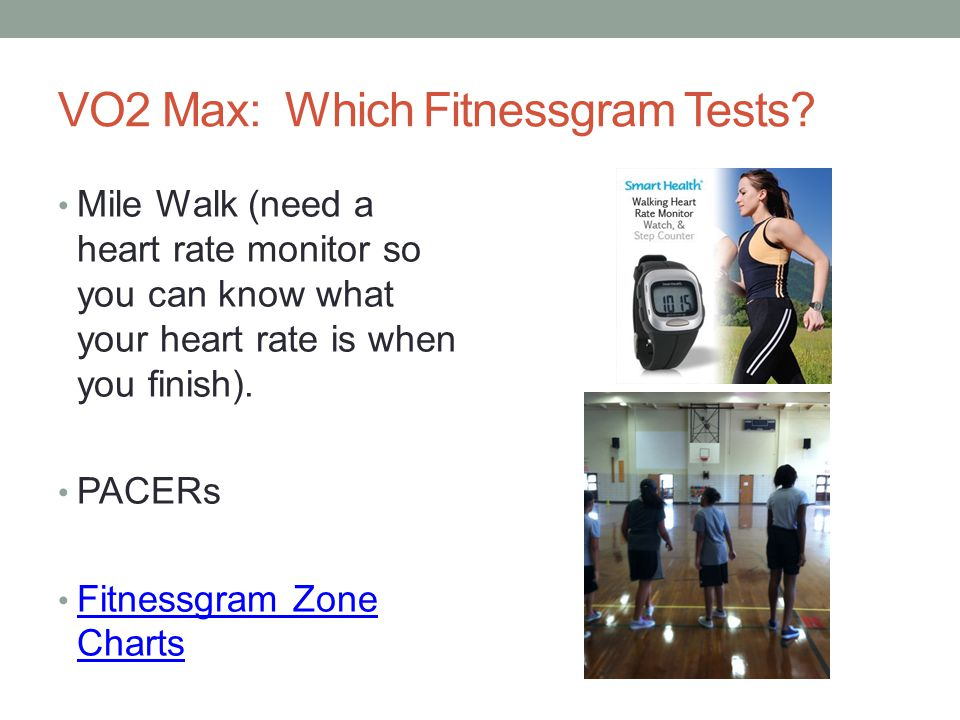 VO2 Max: Which Fitnessgram Tests