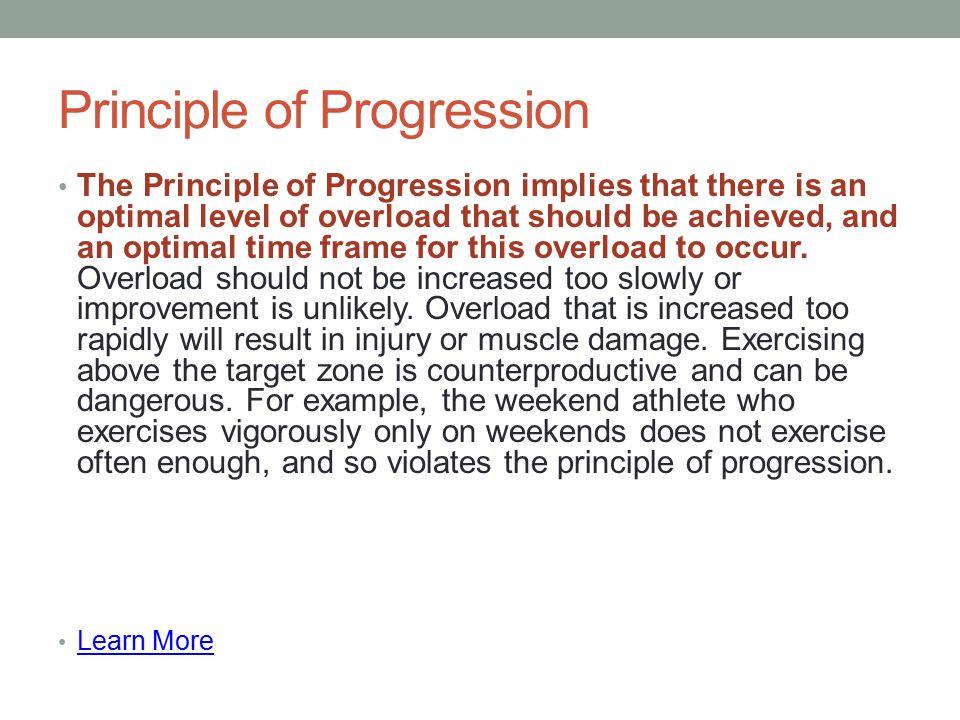 Principle of Progression