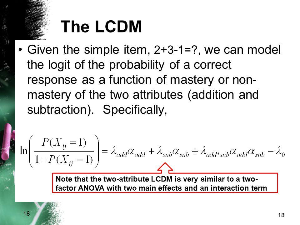 The LCDM