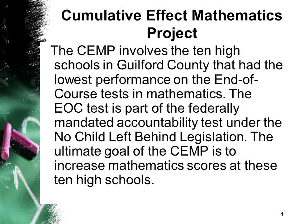 Cumulative Effect Mathematics Project