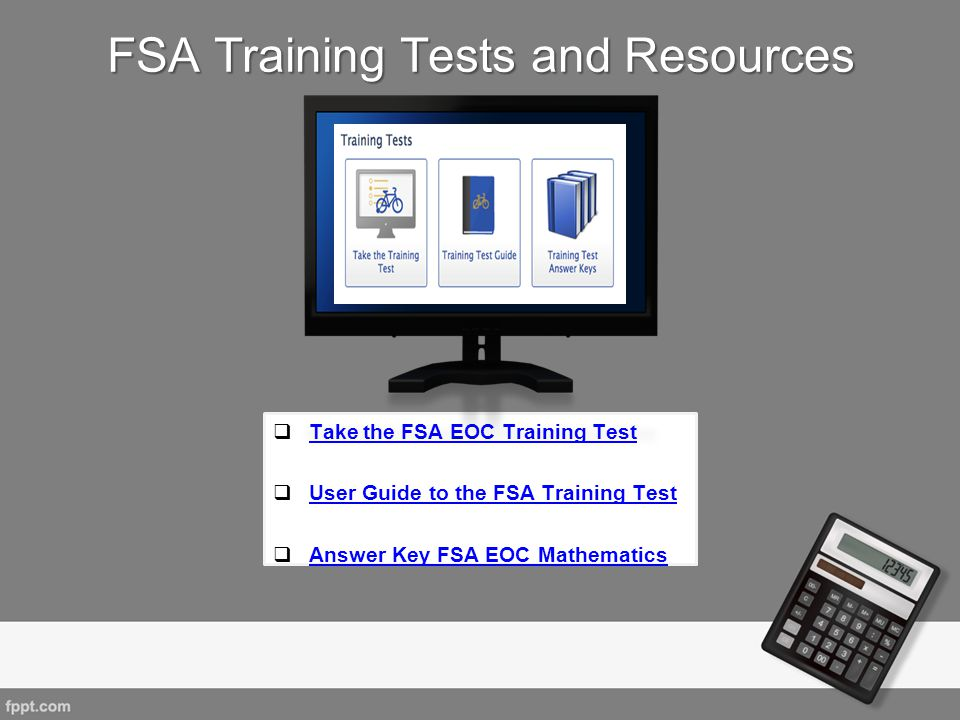 FSA Training Tests and Resources